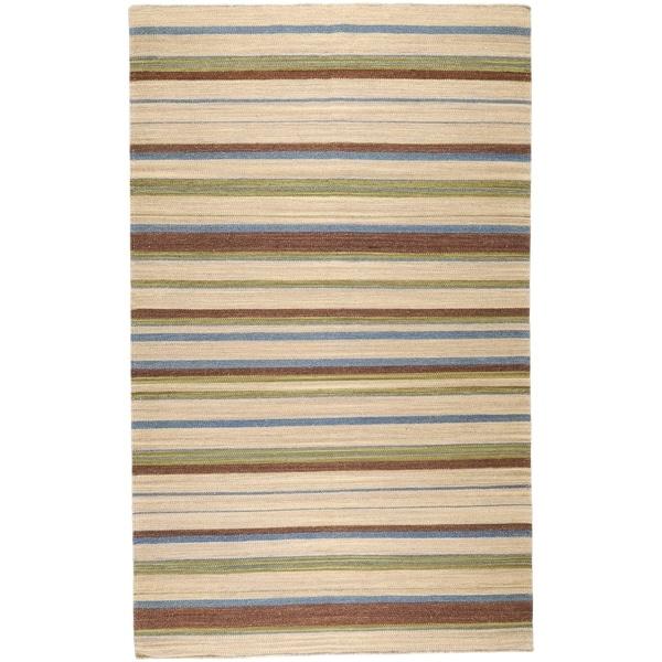 Hand Woven Frontier Wool Area Rug - 5' x 8'