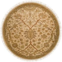 Hand Knotted Herriman  Semi-Worsted New Zealand Wool Rug (8' Round)