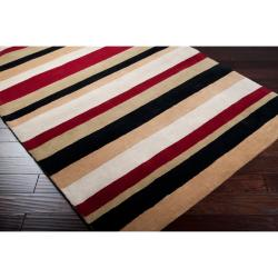 Hand-tufted Casual Multi Striped Howell Wool Rug (9' x 13')
