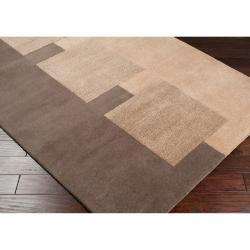 Hand-tufted Contemporary Brown Kanosh New Zealand Wool Abstract Rug (5' x 8') - Thumbnail 1