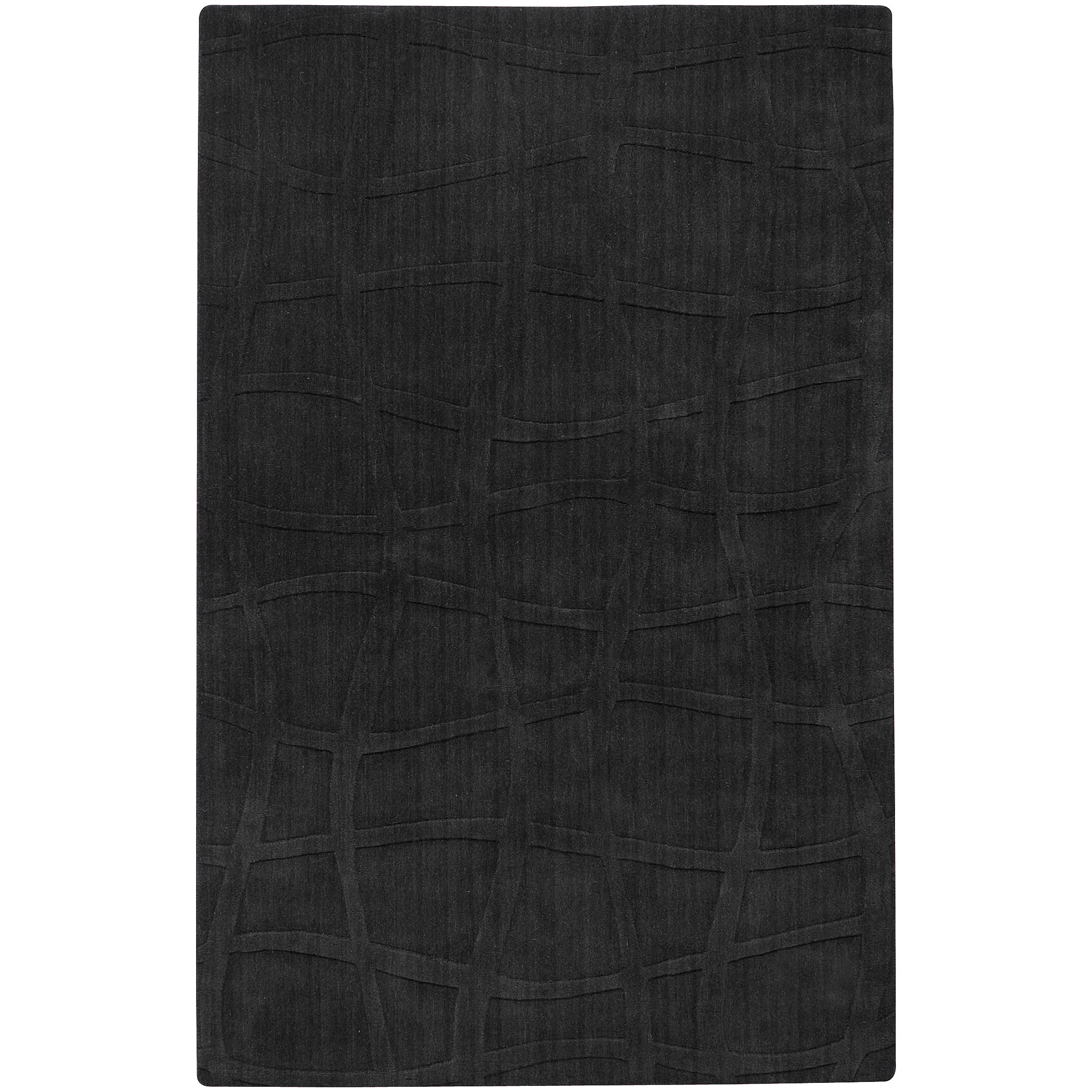 Loomed Manti Abstract Plush Wool Rug (9' x 13')