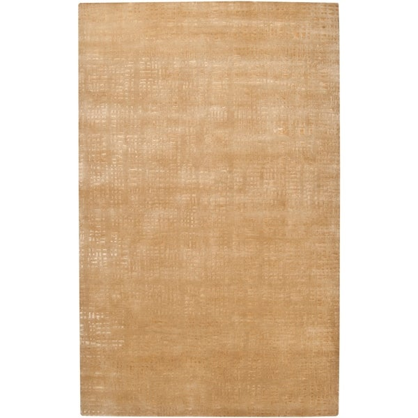 Hand Knotted Marriot Abstract Design Wool Area Rug - 5' x 8'