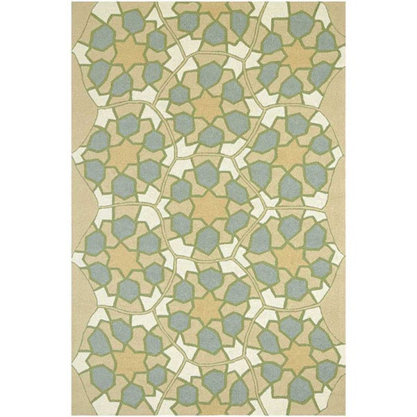 Hand Hooked Sand Area Rug (5'x7' 6)