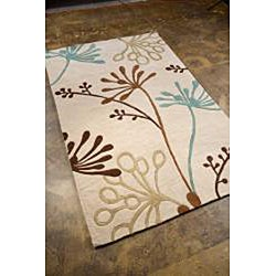 Hand Tufted White Area Rug (7'6 X 9'6) - Thumbnail 1