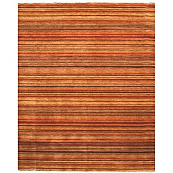 Handmade Wool Transitional Stripe Lori Toni Rug (5'6 x 8')