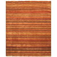 """Handmade Wool Transitional Stripe Lori Toni Rug - Multi - 5'6"""" x 8'"""