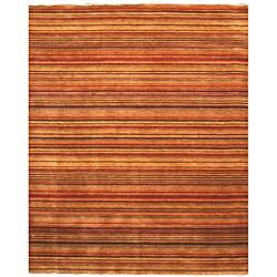 "Handmade Wool Transitional Stripe Lori Toni Rug - 5'6"" x 8'"