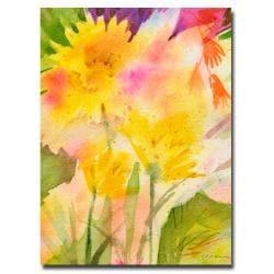 Sheila Golden 'Springtime Floral' Contemporary Canvas Art