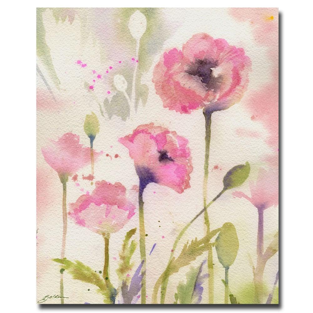 Sheila Golden 'Oriental Poppy Garden' Medium Canvas Art