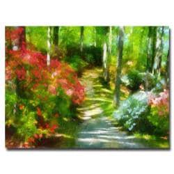 Lois Bryan 'Azaleas in the Morning' Large Canvas Art