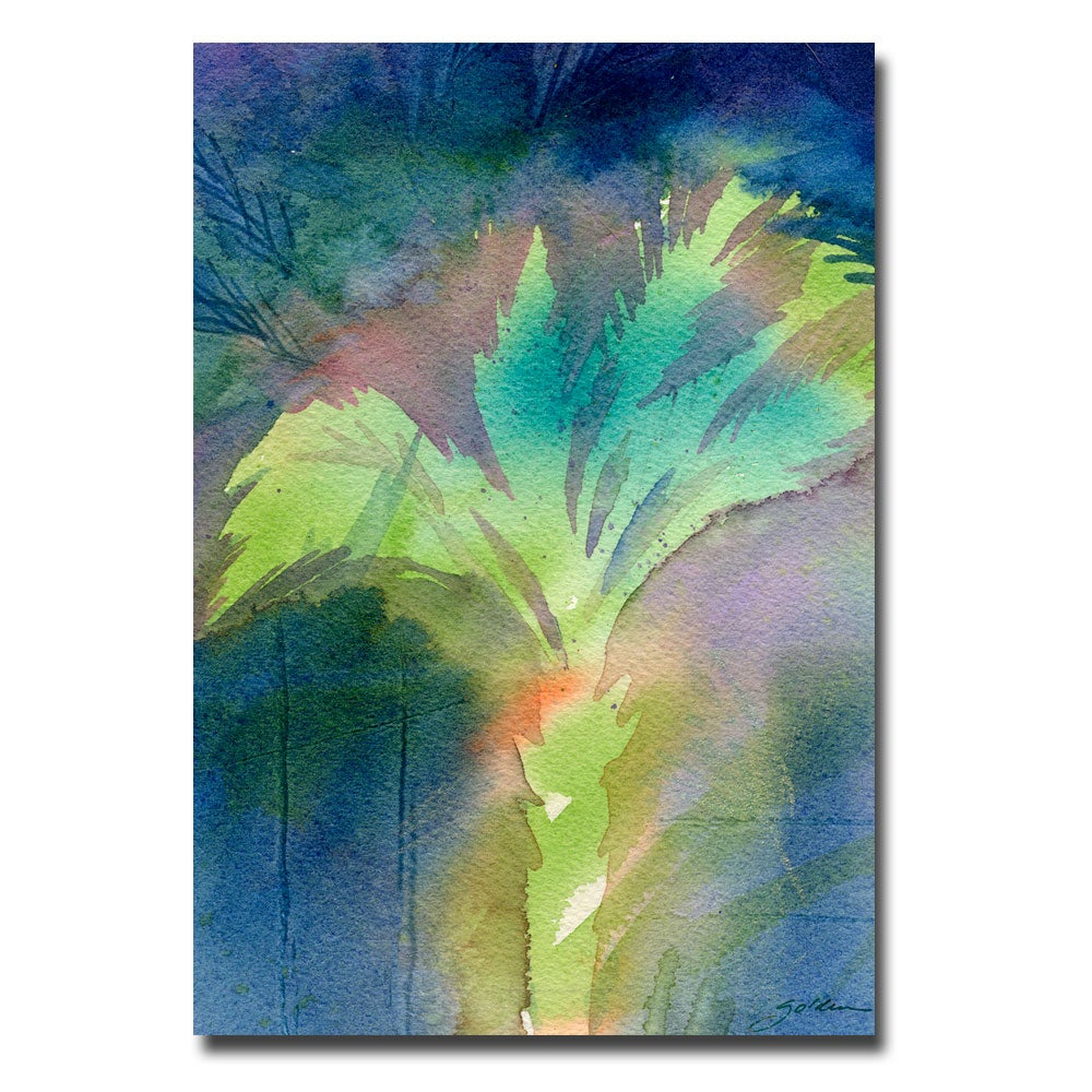Sheila Golden 'Night Palm' Canvas Art