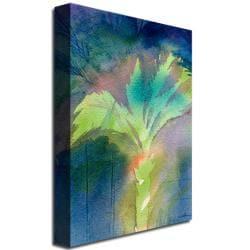 Sheila Golden 'Night Palm' Canvas Art - Thumbnail 1