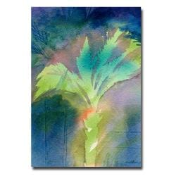 Sheila Golden 'Night Palm' Canvas Art - Thumbnail 0