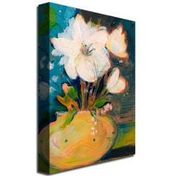 Sheila Golden 'Simplicity' Floral Canvas Art