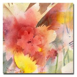 Sheila Golden 'Hibiscus Shadow' Square Canvas Art