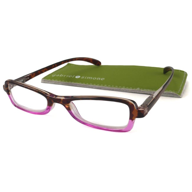 Gabriel+Simone Women's 'Colette' Two-Tone Rectangular Reading Glasses