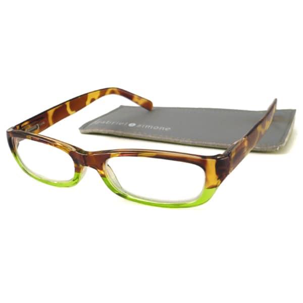 Gabriel+Simone Women's 'Emilie' Two-Tone Rectangular Reading Glasses