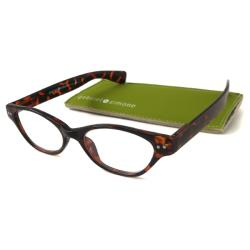 Gabriel + Simone Women's 'Le Maire' Brown Tortoiseshell Cat-Eye Reading Glasses