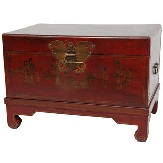Handmade Red Lacquer Small Trunk (China)