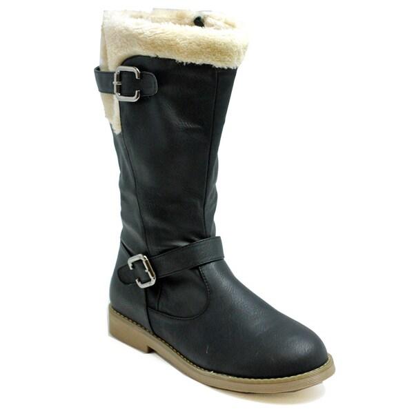 Russel Matos Women's Black Mid-Calf Boots