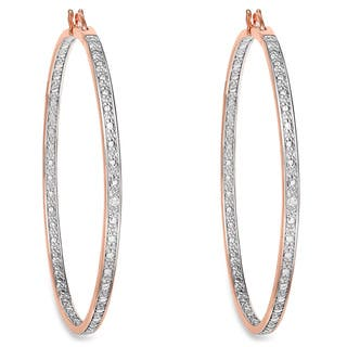 Finesque Rose 14k Gold Overlay Diamond Accent Micro Hoop Earrings|https://ak1.ostkcdn.com/images/products/6441619/P14043554.jpg?impolicy=medium