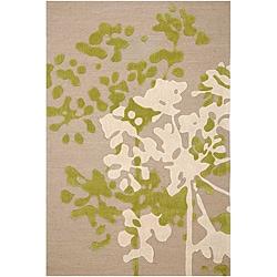 Shop Hand Tufted Beige Ivory Floral Area Rug 7 6 X 9 6