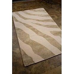 Hand-tufted Gray Wool Area Rug (8' x 11') - Thumbnail 1