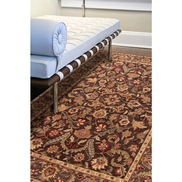 Brown Hand Tufted Wool Area Rug (9'6 x 13'6)