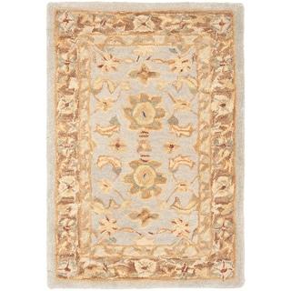 Safavieh Handmade Anatolia Treasure Oriental Teal/ Brown Hand-spun Wool Rug (2' x 3')