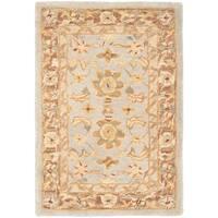 Safavieh Handmade Anatolia Treasure Oriental Teal/ Brown Hand-spun Wool Rug - 2' x 3'