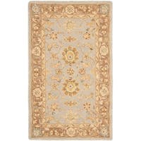 Safavieh Handmade Anatolia Treasure Oriental Teal/ Brown Hand-spun Wool Rug (3' x 5')