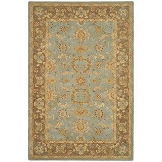 Safavieh Handmade Anatolia Treasure Oriental Teal/ Brown Hand-spun Wool Rug (4' x 6')