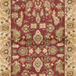 Safavieh Oushak Red/ Cream Runner Rug (2'3 x 8') - Thumbnail 2