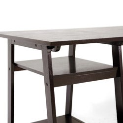 Mott Dark Brown Wood Modern Desk with Sawhorse Legs (Large) - Thumbnail 2