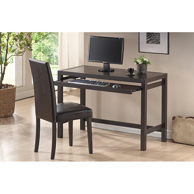 Astoria Brown Modern Desk And Chair Set Free Shipping