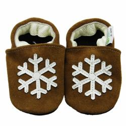 Snowflake Leather Baby Shoes - Thumbnail 0