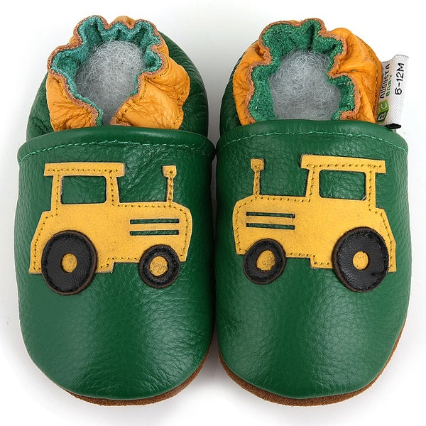 Tractor Leather Baby Shoes