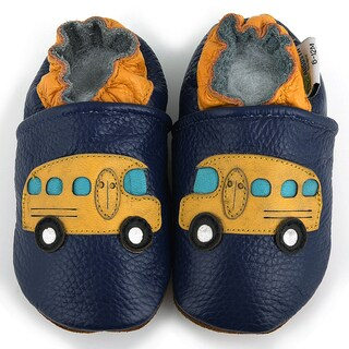 School Bus Leather Baby Shoes
