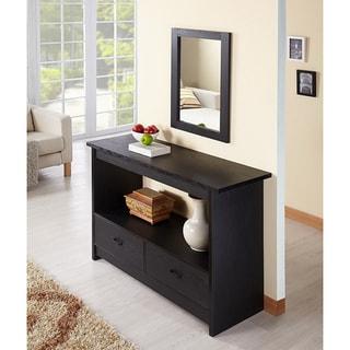 Furniture of America Black Caliper Sofa/ Console Table