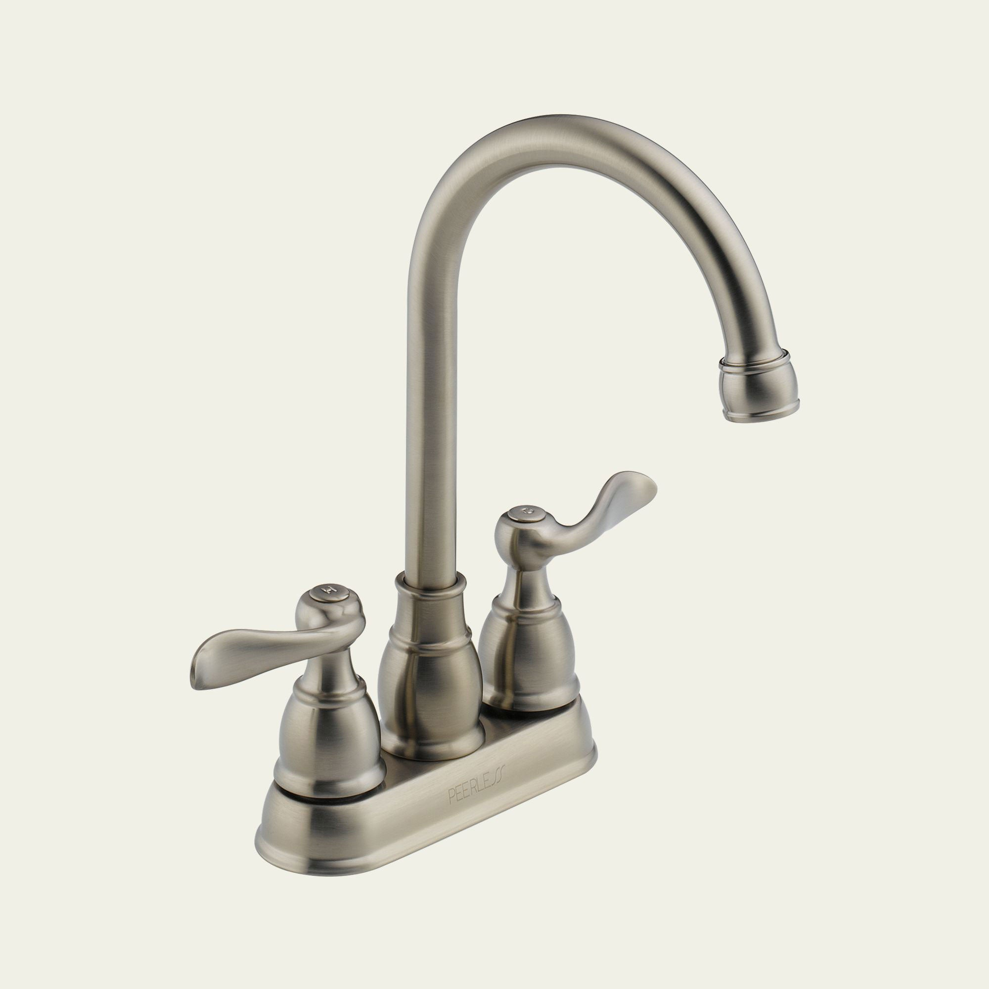 Peerless 2-Handle Stainless Steel Kitchen Faucet Without Drain