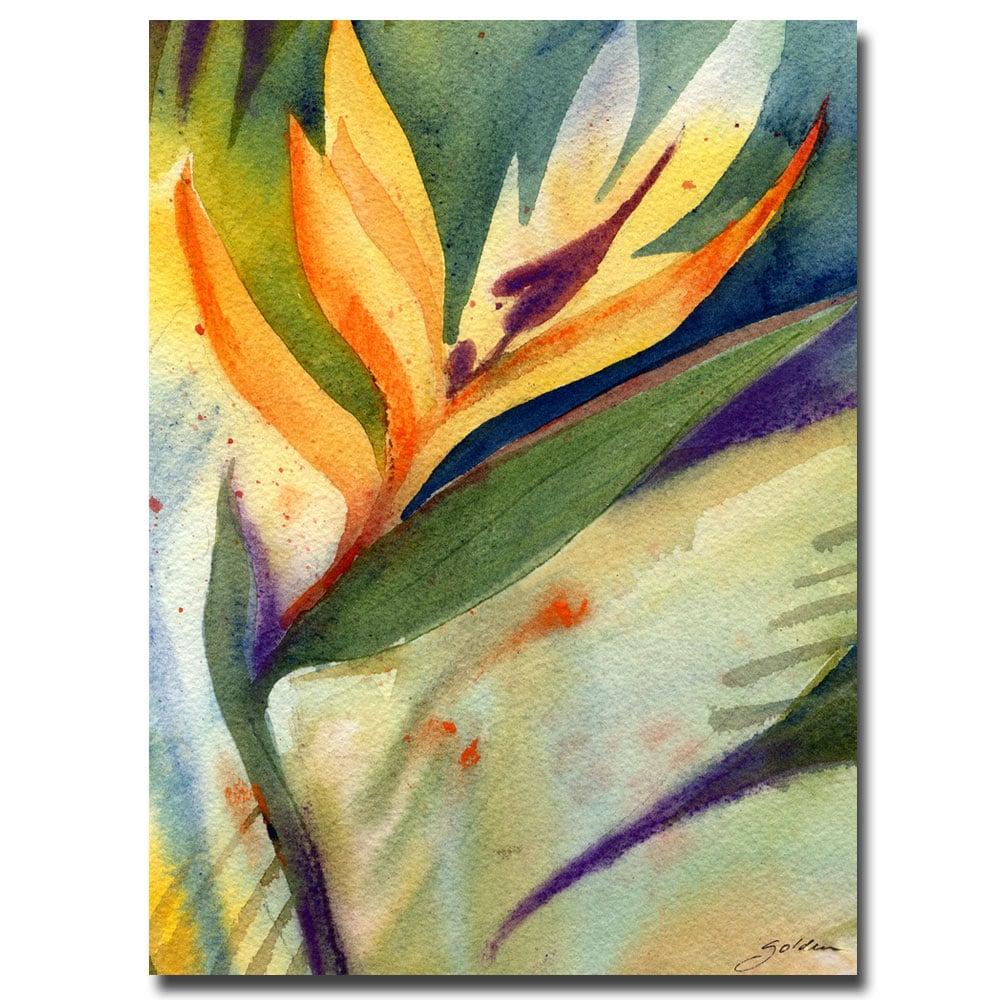 Sheila Golden \'Bird of Paradise\' Large Canvas Art - Free Shipping ...