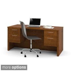 Bestar Embassy Executive Desk with Dual Half Pedestals