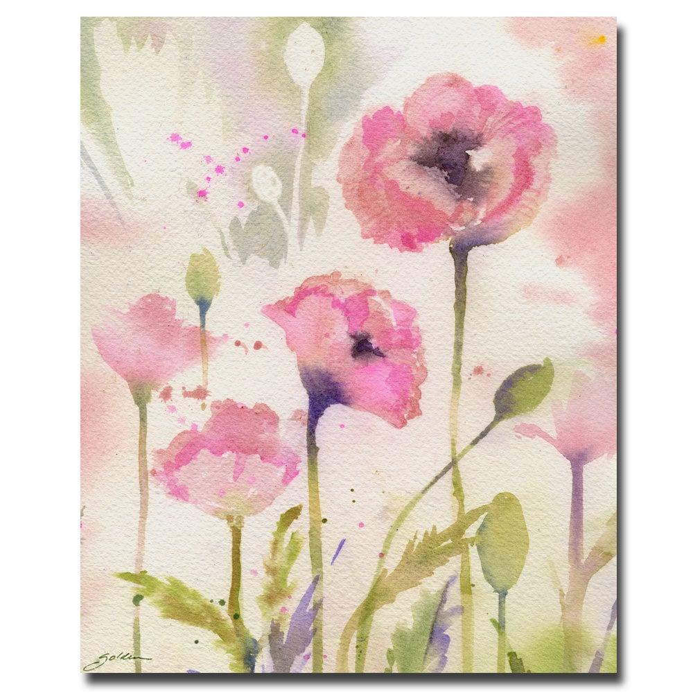 Sheila Golden 'Oriental Poppy Garden' Canvas Art