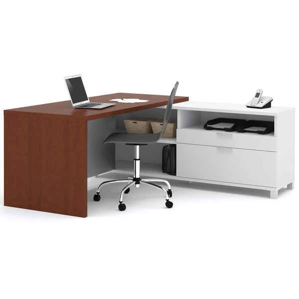 Shop Bestar Pro Linea L Shaped Workstation Desk Free