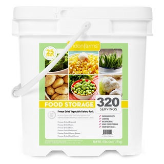 Lindon Farms Freeze Dried Vegetables Food Storage Kit (320 Servings)