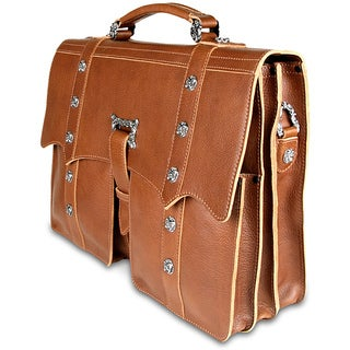 Zeyner Cognac Italian-vachetta-leather 15.4-inch Laptop Briefcase|https://ak1.ostkcdn.com/images/products/6443018/P14044623.jpg?_ostk_perf_=percv&impolicy=medium