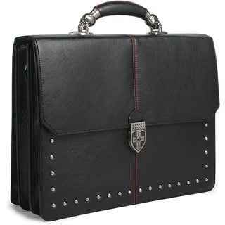 Zeyner Hellraiser Leather Flapover 17-inch Laptop Briefcase|https://ak1.ostkcdn.com/images/products/6443028/P14044607.jpg?impolicy=medium