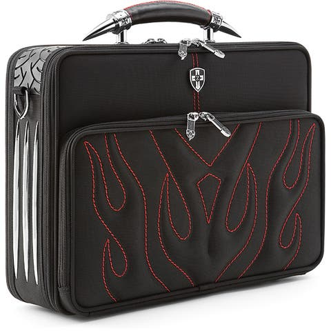 Zeyner Bullfight Ballistic Nylon Top-Zip Computer Briefcase