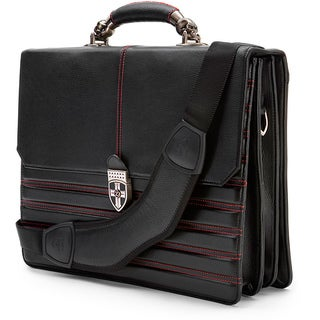 Zeyner Hellbound Leather 17-inch Laptop Portfolio Briefcase
