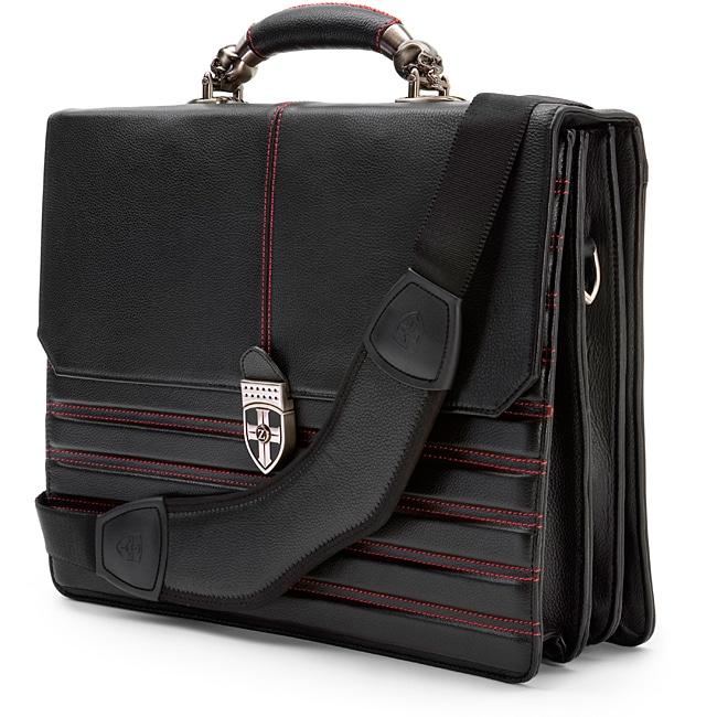 Zeyner Hellbound Leather 17-inch Laptop Portfolio Briefcase